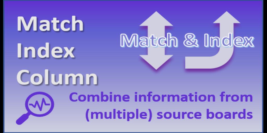 1 Match Index Column