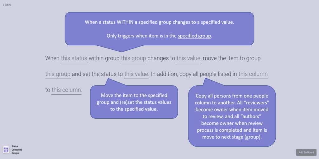 4 Status Controlled Groups